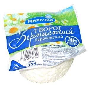 Fromage blanc russe, 30% Mat.g., 275g.