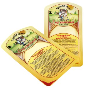 Fromage russe fumé, en tranches, 200g.
