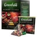 """Thé """"Greenfield"""" Redberry Crumble, 20 pyramides"""