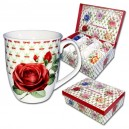 "Coffret de six tasses ""Roseraie"", 350ml"