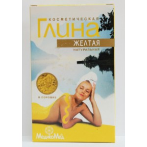 Argile jaune naturel, 100g.