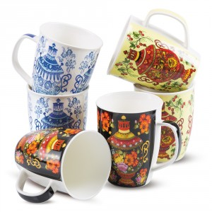 "Coffret de six tasses ""Samovar"", 350ml"